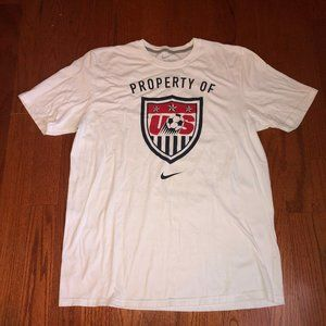 Nike Men's White Logo T-Shirt Top Soccer USA XL